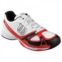 Wilson Rush EVO Herren Tennisschuhe WHITE/ RED /BLACK
